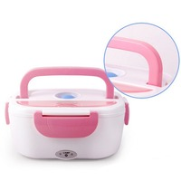 2 Colors Electric Portable Heated Lunch Food Grade Food Container Set Food Warmer With For Kids