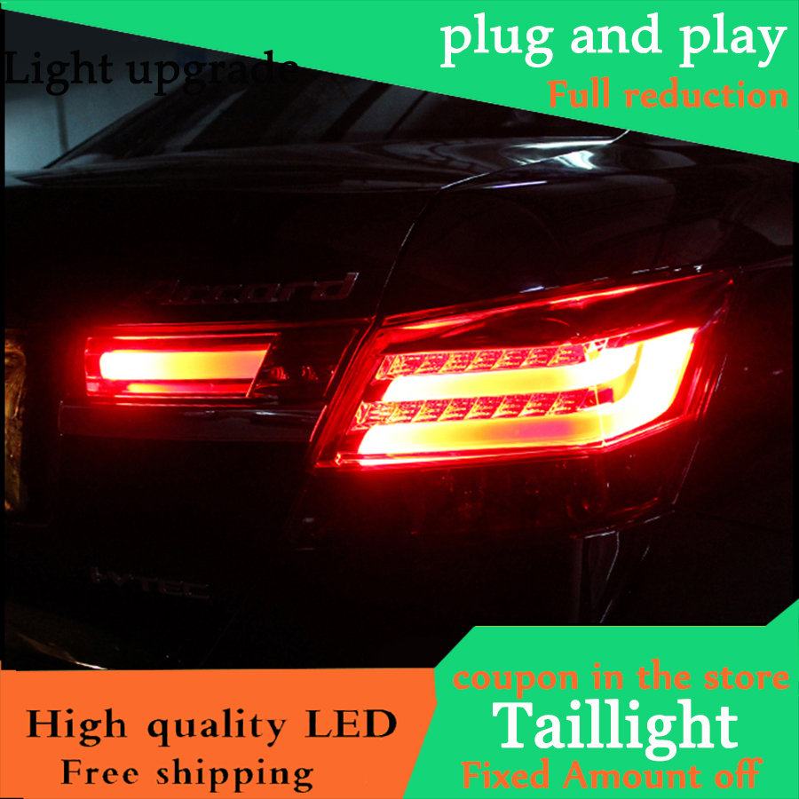 Car Styling For <font><b>HONDA</b></font> <font><b>Accord</b></font> <font><b>8</b></font> 2008-2012 Taillights LED Tail Light LED Rear Lamp DRL+Brake+Reversing+Signal LIGHT Accessories image