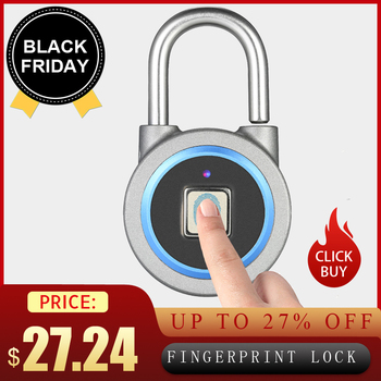 BT Fingerprint Smart lock Keyless Lock Waterproof APP / Fingerprint Unlock Anti-Theft Padlock Door Lock for Android iOS System