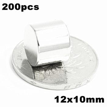 200pcs 12x10mm Super Powerful Strong Bulk Small Round NdFeB Neodymium Disc Magnets Dia 12mm x 10mm N35  Rare Earth NdFeB Magnet