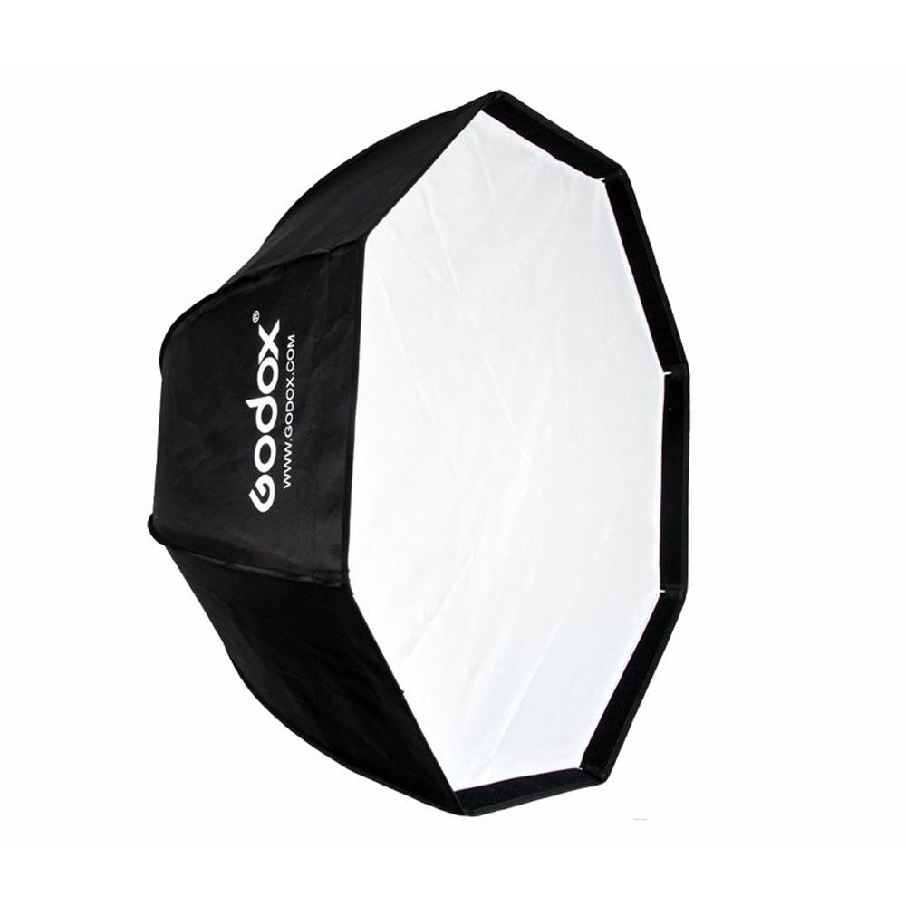 Boîte à parapluie octogonale Godox 80 cm/31.5in avec montage Bowens pour Studio de stroboscope Photo Speedlite