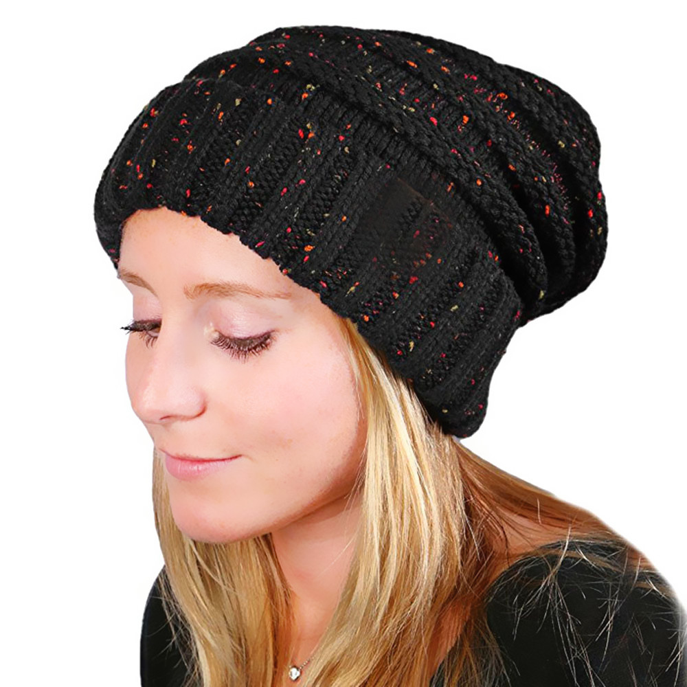 2018 cap lady winter fashion hat blended knitted female hat Women   Skullies     Beanies   outdoor leisure warm hat fashion ladies Gray