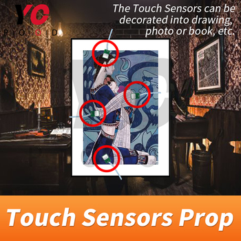 YOPOOD Touch Sensor Prop Escape Room Touch in Correct Sequence to Unlock Takagism Game Real Life Adventure Game Chamber Room