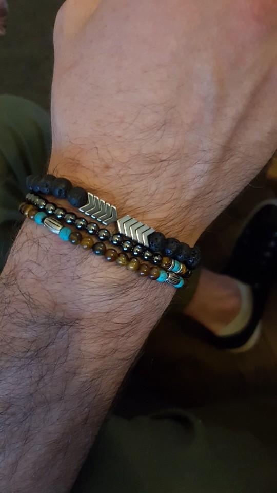 Arrow Lava Stone Bracelet photo review