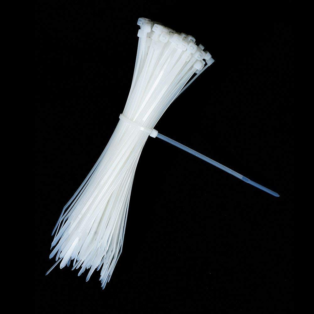 ZHEJIN 100pcs 60/80/100/120/150/200mm White Black Milk Cable Wire Zip Ties Self Locking Nylon Cable Tie(width 1.9mm)