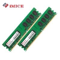 IMICE PC De Bureau Ram DDR2 4 GB (2x2 GB) RAM 800 MHz PC2-6400S 240-Pin 1.8 V DIMM Pour Ordinateur Compatible Mémoire Garantie