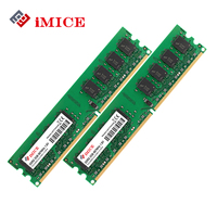 IMICE Desktop PC RAMs DDR2 4GB 2x2GB RAM 800MHz PC2 6400S 240 Pin 1 8V DIMM
