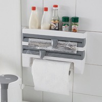 Multifunction plastic wrap Storage Rack Protect Home Organizer Holder Space Frigerator Accessories Supplies Gear Stuff Product
