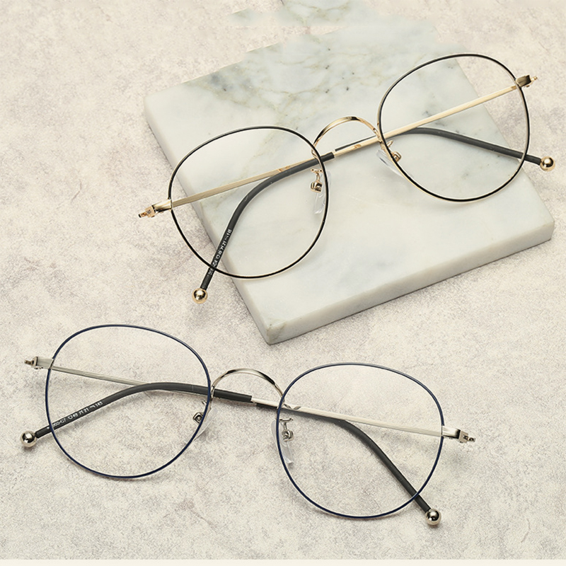 5a3545f6beb 2018 ultra light retro round flat mirror Trendy metal exquisite glasses  frame literary male and female