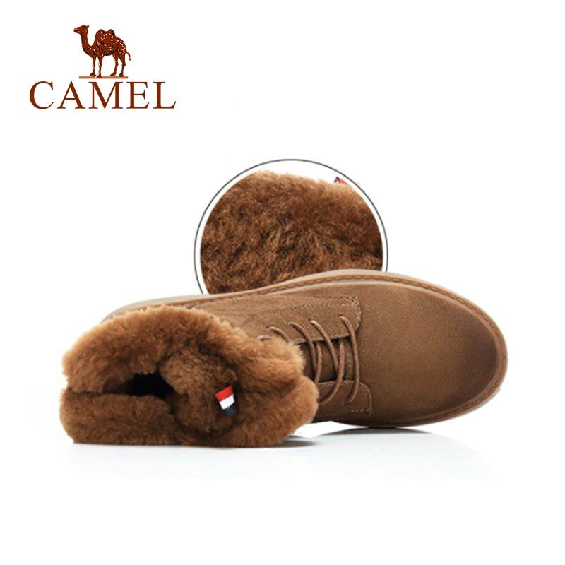 7e77eb29710 Camello Invierno Zapatos Estilo Moda Más Nieve Black brown Terciopelo Botas  Antideslizante Mujeres Corto Mujer Mantener ...
