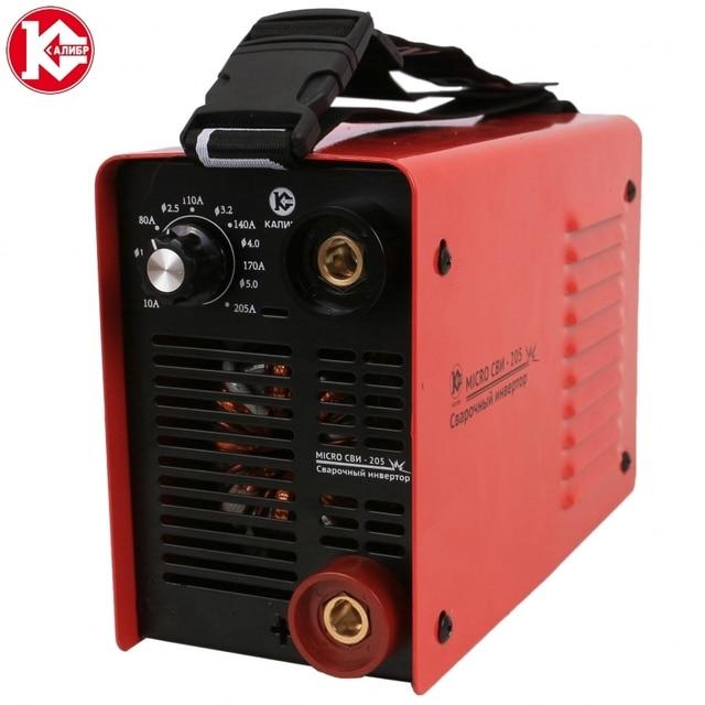 Сварочный инвертор Калибр MICRO СВИ-205, вес 2,6 кг, 10-180А, электроды до 5 мм, Легкий розжиг дуги, Стабилизация напряжения сварочного контура, Антизалипание, Стабилизация питающей сети, Защита от перегрузки