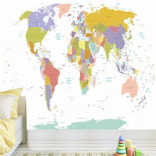 Creative children English map background wall professional production mural factory wholesale wallpaper photo