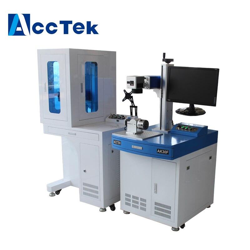 Machine de marquage laser de fibre de bureau AccTek gravée sur aluminium de téléphone de fer d'acier en métal