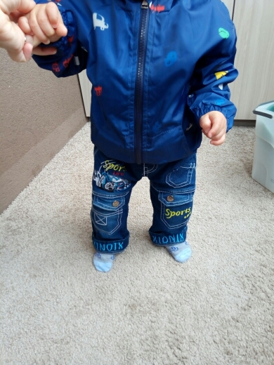 d2a6c7168c6b outerwear coats 1-7T blue and whith style jackets for boys CQ03 ...
