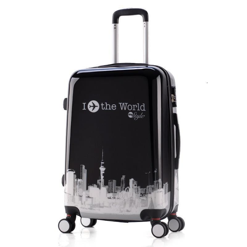 Viaje Valise Bagages Roulettes And Travel Bag Cabin Colorful Trolley Koffer Maleta Mala Viagem Luggage Suitcase 20