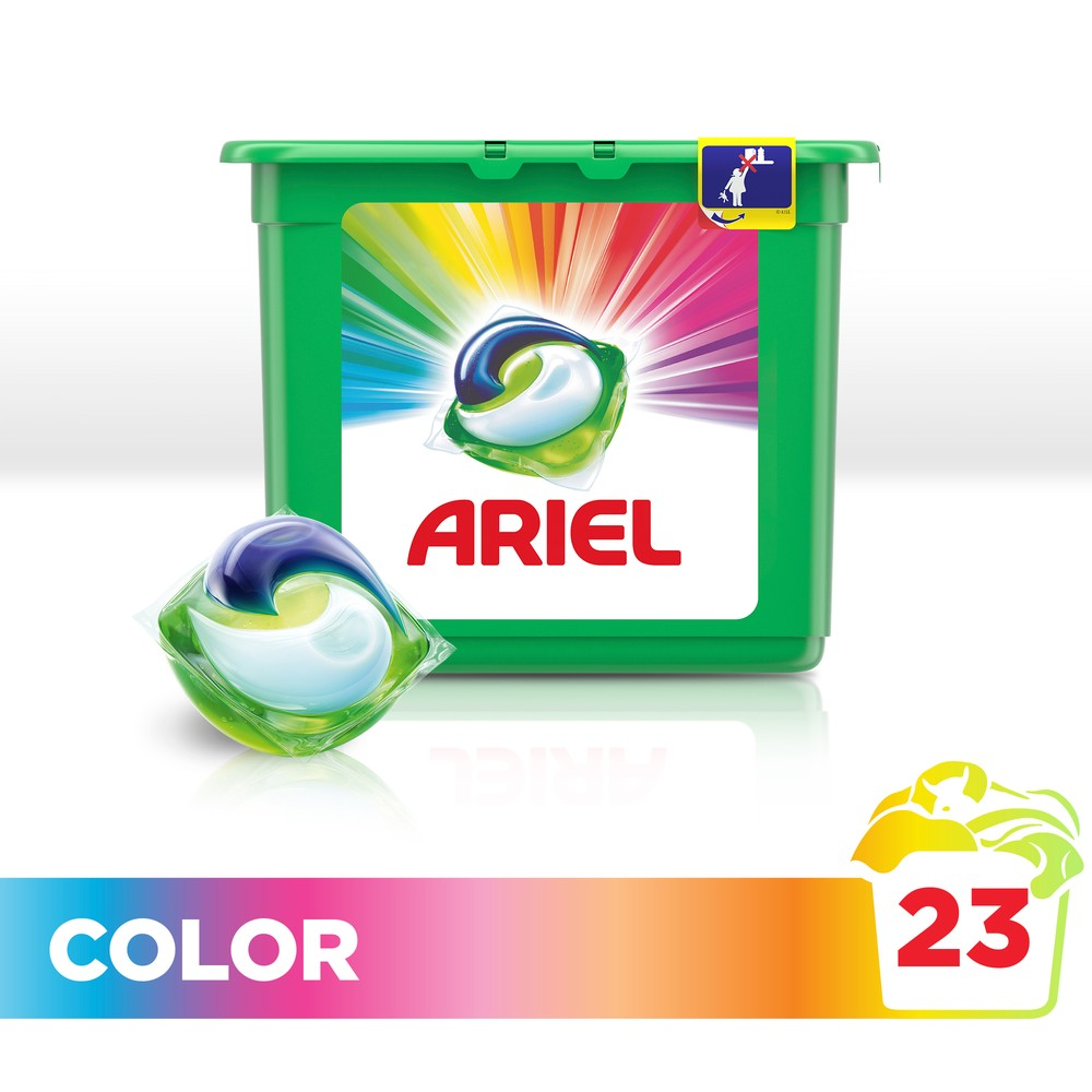 Washing Powder Capsules Ariel Capsules 3in1 Color (23 Tablets) Laundry Powder For Washing Machine Laundry Detergent indoor retractable laundry clothesline 2 5m length