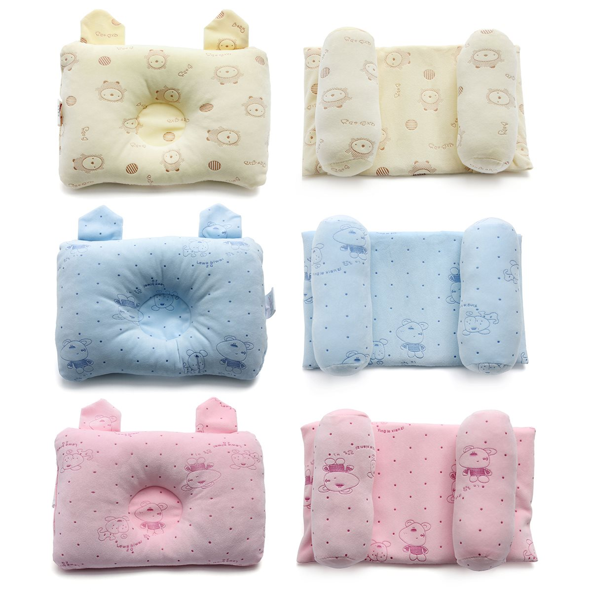 Newborn Baby Cartoon Cot Pillow Children Flat Head Prevent Sleep Cushion Pad Positioner Shaping Pillow Baby Bedding Supplies