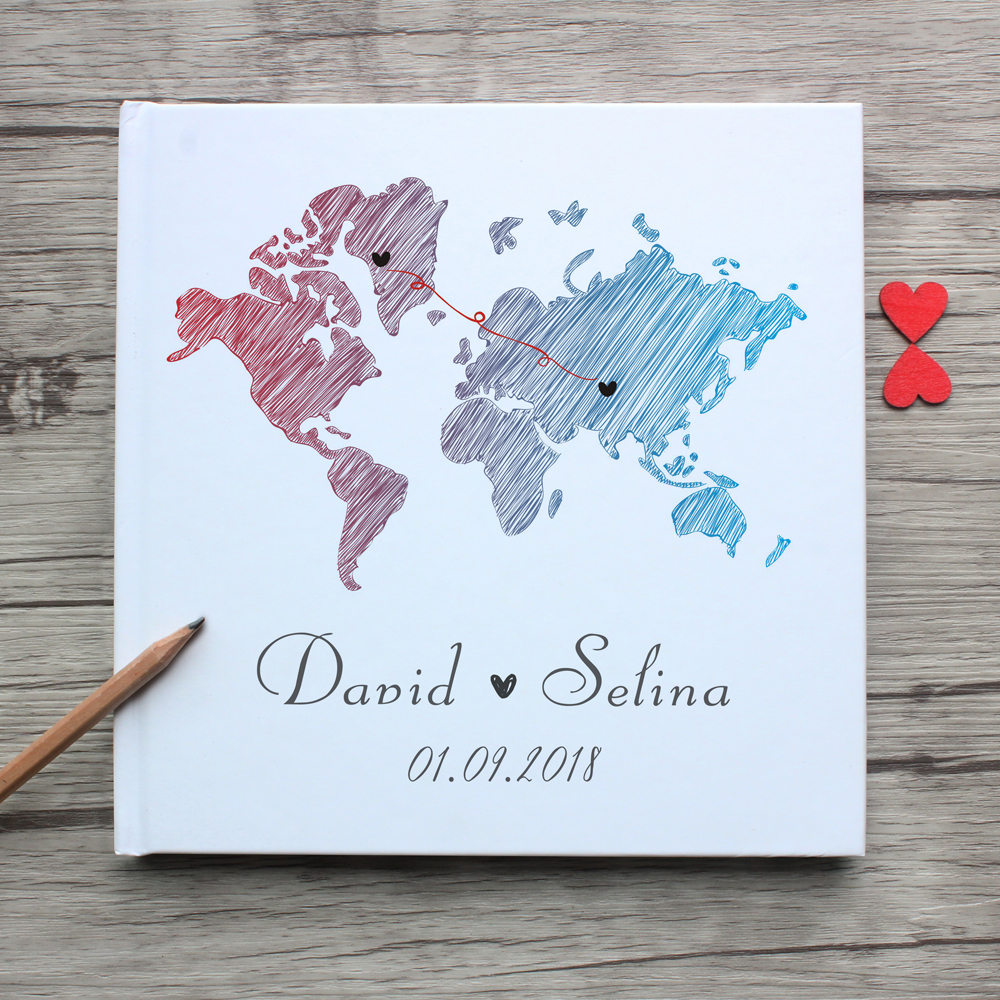 Custom World State Map White Wedding Guest Book Alternative,Personalized Long Distance Friendship Photo Album,Graduation MemoryCustom World State Map White Wedding Guest Book Alternative,Personalized Long Distance Friendship Photo Album,Graduation Memory