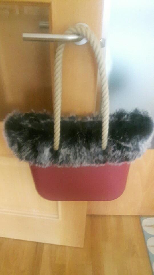 tanque Faux Fox Fur voor O BAG White Black Pluche Trim Thermal Plush Decoratie Fit voor Classic Big Mini Obag photo review
