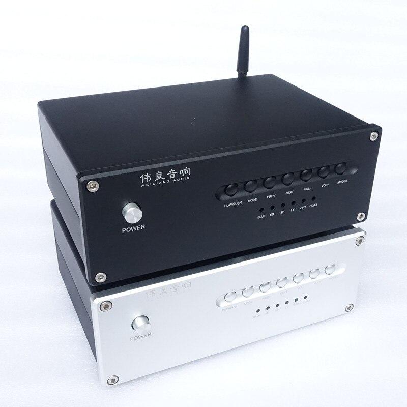 Brise Audio C30 Bureau lecteur de musique Bluetooth 4.2 dac USB ES9028Q2M supporte la carte sd usb bluetooth Coaxial d'entrée optique