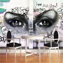 Street graffiti bar mural background wall professional custom high-end factory wholesale wallpaper photo