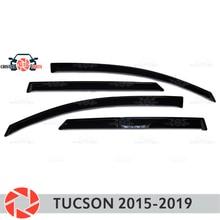 Дефлектор окна для hyundai Tucson 2015-2019 дождь дефлектор грязи Защитная оклейка автомобилей украшения Аксессуары Литья