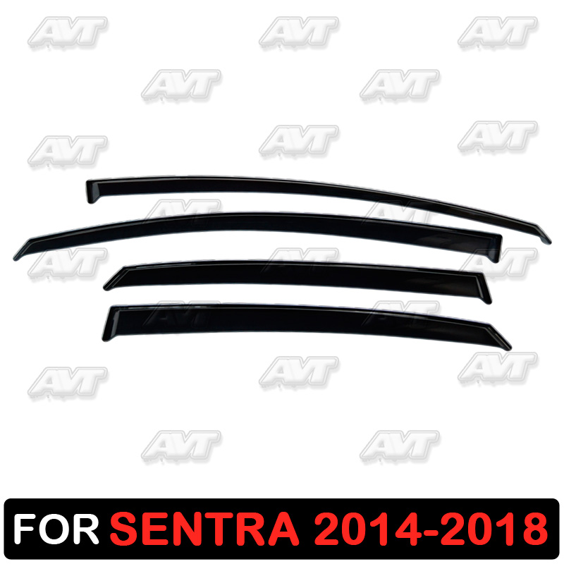 Window deflectors for Nissan Sentra 2013 2018 1 set 4 pcs car styling wind decoration guard vent visor rain guards cover
