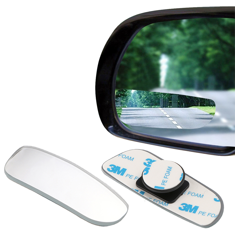 2Pcs Car Arc Wide-angle Rearview Mirror Clear Slim Blind Spot Reversing Glass Convex Rear View Mirror Parking Mirror for SUV Car(China)