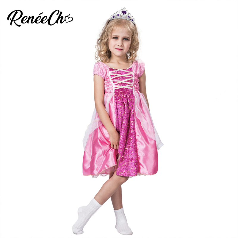 Kids Pink Starry Princess Dress Halloween Costume Dresses For Girls Sleeveless Kids dresses for girls wedding Birthday Party