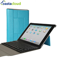 Ultra Slim Folding PU Leather Stand Smart Cover Case With Magnetic Detachable Wireless Keyboard For IPad