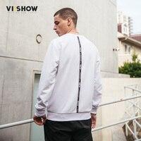 VIISHOW New Autumn Winter Fashion Men White Hoodies Casual Cotton Male Pullover Tracksuit Mens Crewneck Sweatshirt