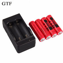 GTF 4 stks 14500 Batterij lithium batterij Ion 3.7 V 2800 mAh Batterijen + EU batterijlader(China)