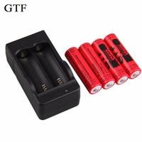 GTF 4 шт. 14500 Батарея литиевая батарея li-ion 3,7 В 2800 мАч батареи + ЕС Батарея зарядное устройство