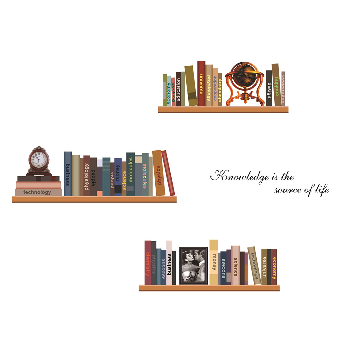 popular decorating book shelves buy cheap decorating book shelves uxcell home study decor book shelf pattern wall sticker decal wallpaper 50 x 70cm sticker