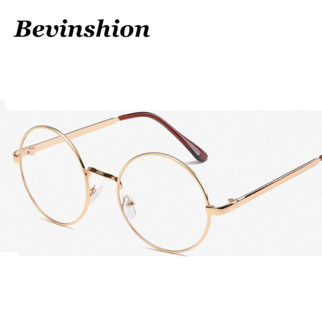 a68755f38 Vintage Sun Glasses Clear Lens Metal Frame Retro Rose Gold Round Sunglasses  Women Eyeglasses Men Goggles UV400 Lunette Oculos