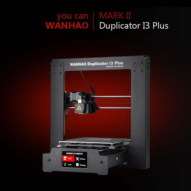 Wanhao 3D Imprimante Duplicateur I3 PLUS 2.0 Cadre en acier Bureau 3D d'impression (MARK II)