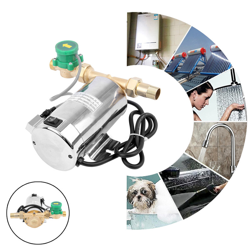 Wolike Stainless Steel 90W 110V 60Hz US Plug Automatic Home Shower Washing Machine Water Booster Pump 100w 220v shower booster water pump