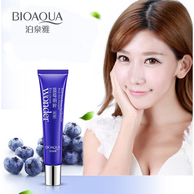 BIOAQUA Blueberry Eye Cream Anti Age Dark Circle Remover Hidratante Ojos Cuidado de la piel