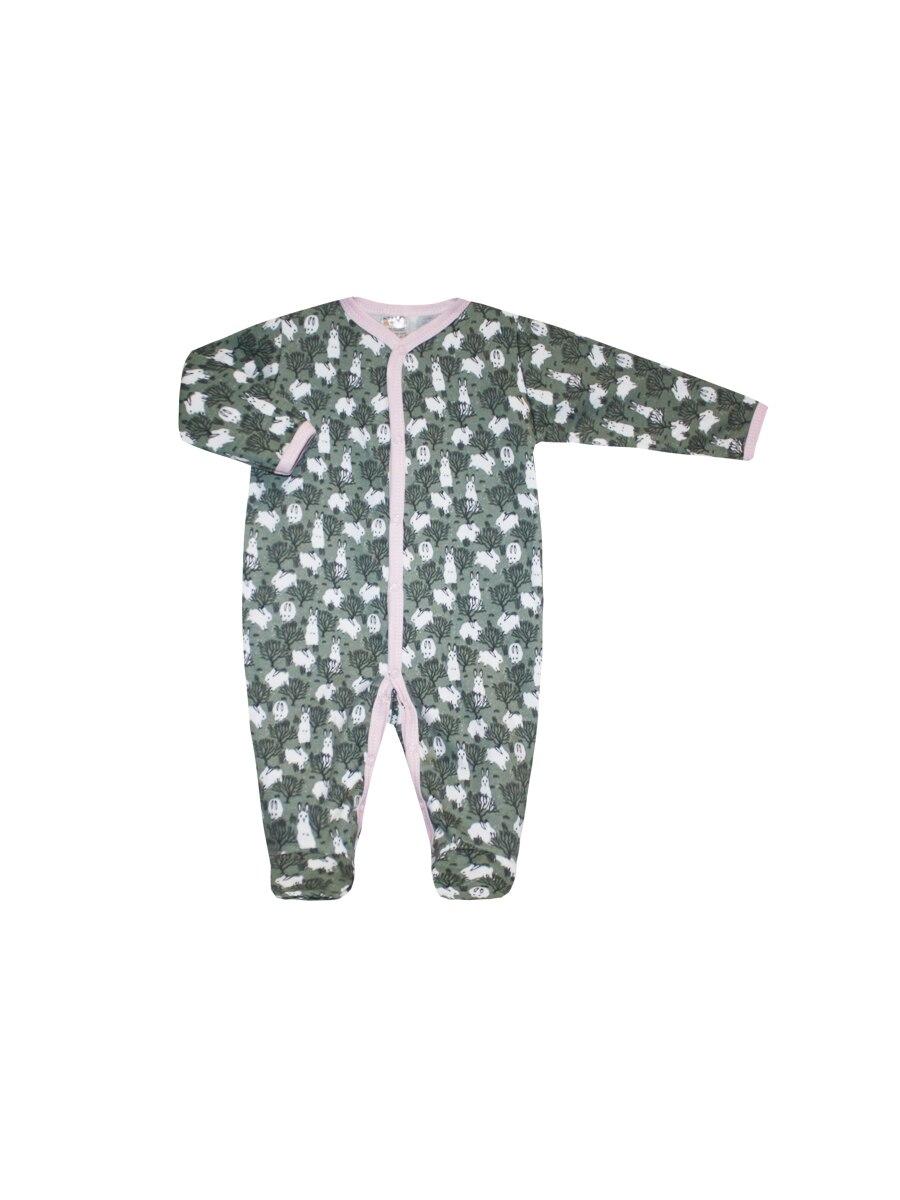 Jumpsuit Winter hares Pink, Newborn, Kotmarkot, 6582 shein pink toddler girls v neck frill trim solid ruffle cute jumpsuit 2019 summer cap sleeve long newborn baby clothing