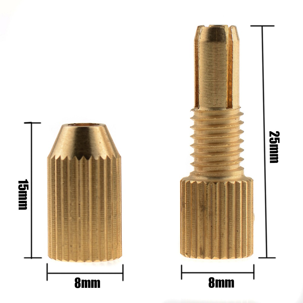 2 2.3 3.17mm Micro Drill Bit Clamp Fixture Brass Electric Motor Shaft Chuck For 0.7mm-3.2mm mini Drill multi tool VE523 P40