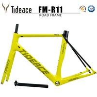 Tideace carbon fiber bicycle frame road bike frame carbon super carbon light weight racing road frameset accept DIY