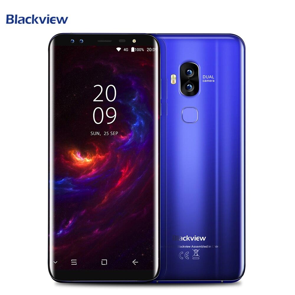 Blackview S8 4GB 64GB Cell Phone Four Cameras Smartphone 5.7 inch MT6750T Octa Core 1440*720 4G LTE Fingerprint OTG Mobile Phone