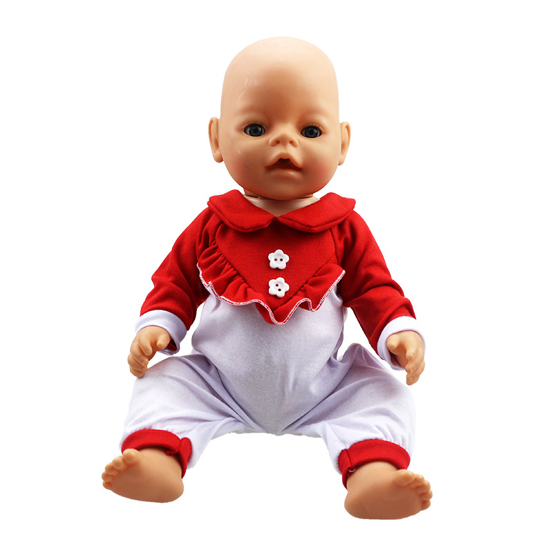 Doll Accessories Baby Born Doll Clothes 6 Colors Cute Jumpsuit Suit Clothes Fit 43cm Zapf Baby Born Doll Birthday Gift
