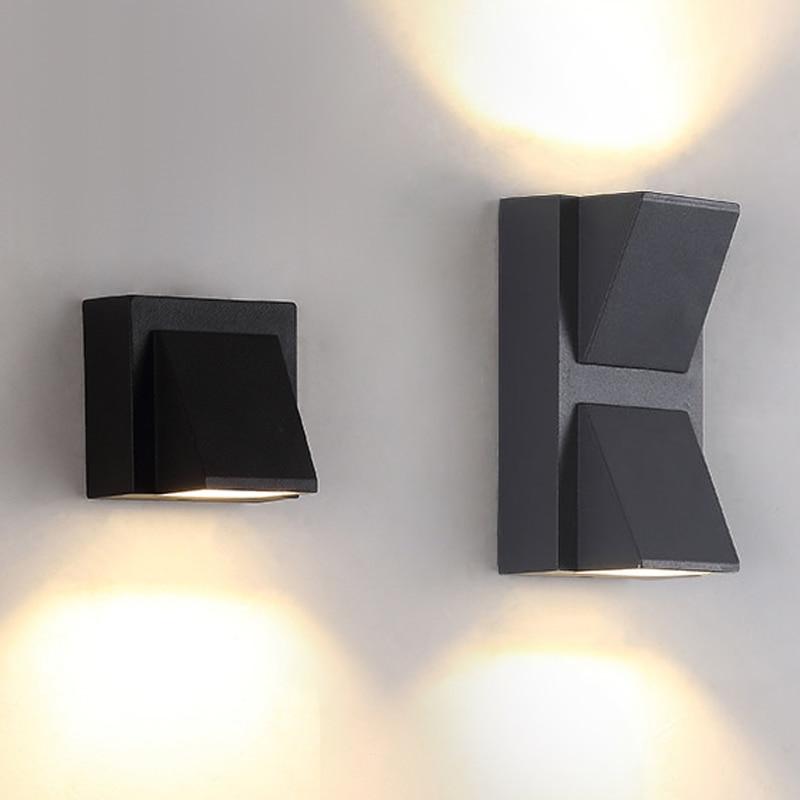 Outdoor waterproof (IP65) Aluminum wall light AC90-265V 3W COB LED Wall lamps home corridor balcony Porch decorative lamps
