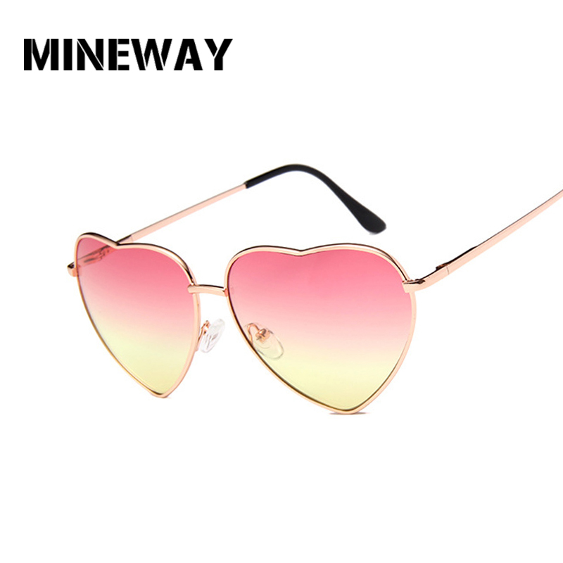 Painstaking Mineway Fashion Heart Shaped Sunglasses Women Brand Designer Metal Reflective Retro Sun Glasses Ray Men Mirror Oculos De Sol Women's Glasses