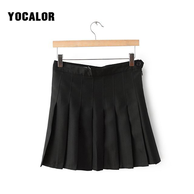 YOCALOR Micro Mini Skirt School Korean Style Women High Waist Pleated Skirts Female Short Summer Girl Womens Faldas Lolita Kilt