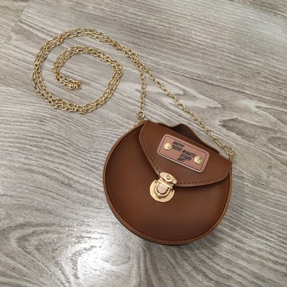 Girls Mini Cute Chain Crossbody Bags PU Leather Coin Purse Small Messenger Bags Kids Round Shoulder Bags Protable Handbags photo review