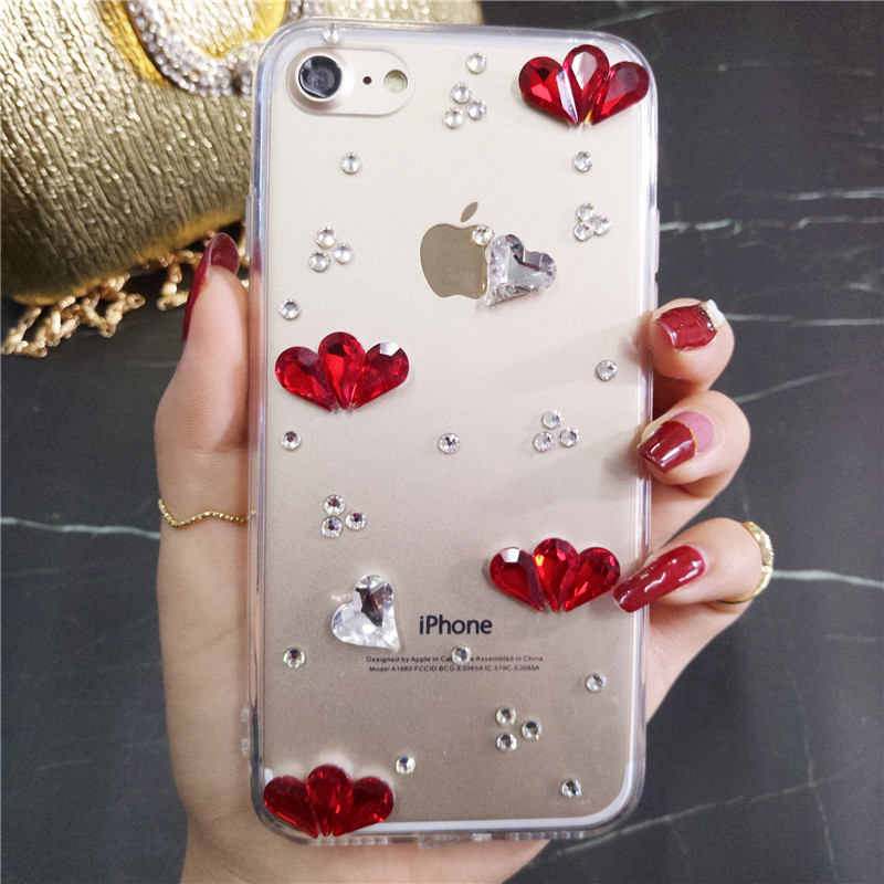 Bereidwillig Smartphone Case Mode Bling Crystal Pearl Rhinestone Soft Clear Case Cover Transparante Soft Shell Voor Huawei 8 P9 P10 P20 Lit Goede Metgezellen Voor Kinderen Evenals Volwassenen