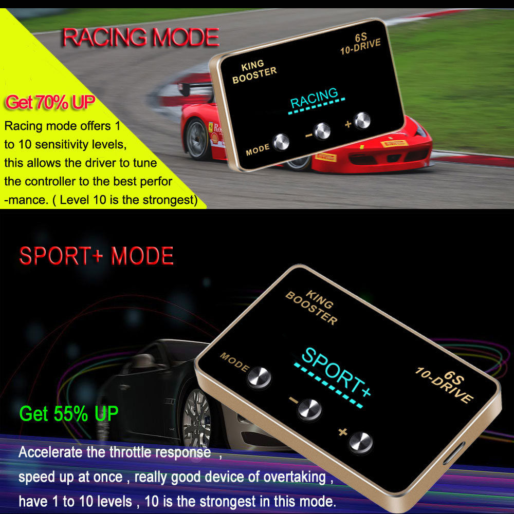 5 car DIY accessories smart pedal commander tuning box electronic throttle controller accelerator speed control module