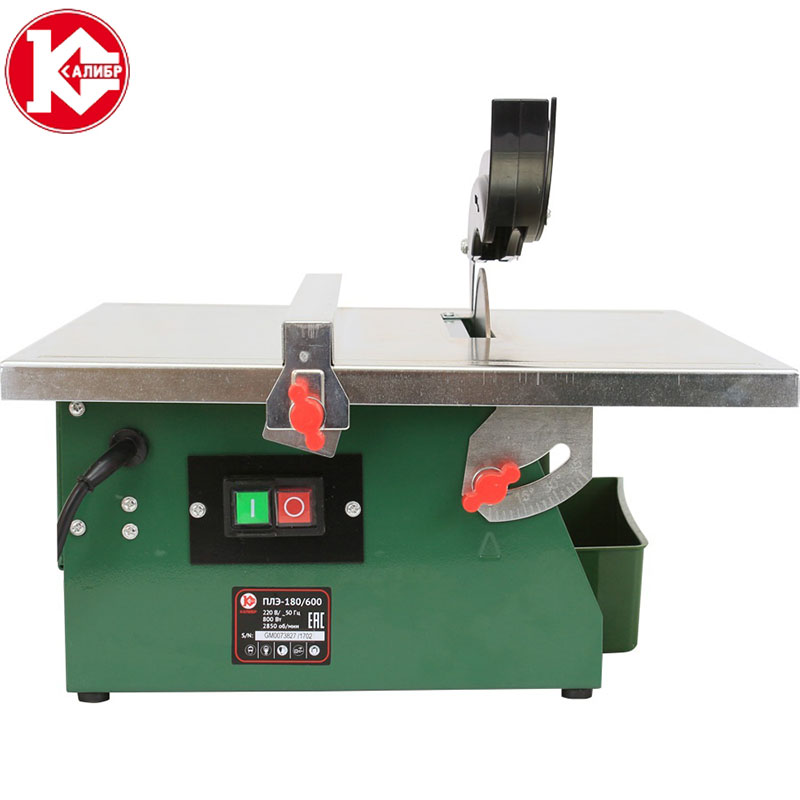 Kalibr PLE-180/600 desktop electric tile cutting machine Small multifunctional stone floor tile jade cutting chamfering machine 76 40 0 3mm diamond plated cutting disc ultra thin cutting blades ceramics glass cutting tool jade jewelry saw blade cutters
